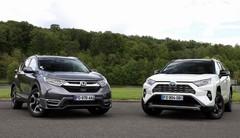 Essai Honda CR-V 2.0 i-MMD vs Toyota RAV4 Hybrid : quel est le meilleur SUV hybride ?