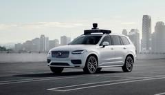 Volvo et Uber dévoilent un véhicule de série prêt pour la conduite autonome