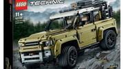 Le Land Rover Defender en fuite en Lego