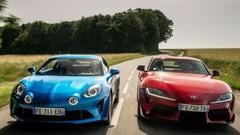 Essai comparatif : la Toyota GR Supra défie l'Alpine A110 !