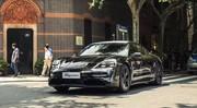Porsche Taycan 2019 : un prototype dans les rues de Shanghai