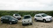 Essai Ford Kuga, Nissan Qashqai, Renault Koleos et Volkswagen Tiguan : les ennemis jurés du Rav 4