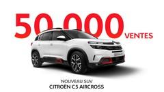 Citroën annonce 50 000 ventes pour son SUV C5 Aircross