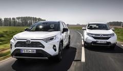 Match Toyota RAV4 2019 contre Honda CR-V Hybrid : Vieilles connaissances