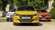 La Peugeot 208 affronte la Renault Clio et la Citroën C3