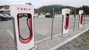 Tesla : 30 kW en plus pour les superchargeurs