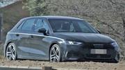 La future Audi A3 réduit son camouflage