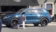 Une première image du Volkswagen Tiguan restylé en fuite