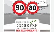 Retour des 90 km/h en Corrèze