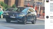 Volkswagen : le Tiguan restylé aperçu, avec un regard de Golf 8