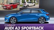 L'Audi A3 Sportback 2020 face à ses rivales
