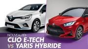 Renault Clio E-Tech vs Toyota Yaris : le duel des hybrides 2020