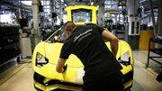 L'usine Lamborghini à l'arrêt
