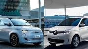 Premier match - Nouvelle Fiat 500 électrique vs Renault Twingo ZE