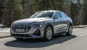 Audi e-tron Sportback : 25 nouvelles photos du SUV-coupé électrique en action
