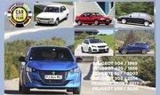 Peugeot Saga Car Of The Year 1969 - 2020 : La saga des lionnes voitures de l'année