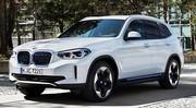 BMW iX3 : les premières photos du X3 électrique en fuite