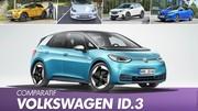 La Volkswagen ID.3 face à ses rivales