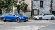 Essai Peugeot 508 SW HYbrid VS Skoda Superb Combi iV : philosophies distinctes