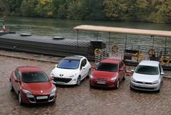Comparatif Renault Mégane Coupé, Peugeot 308, VW Golf, Kia Pro Cee'd