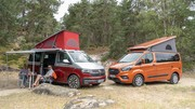 Match Volkswagen California vs Ford Transit Nugget : lequel choisir ?