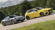 Essai Mercedes-AMG Classe A 45 : plus forte qu'une Porsche 911 ? Le match !