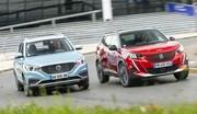 Essai comparatif SUV électriques: le MG ZS défie le Peugeot e-2008