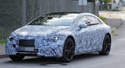La future berline électrique Mercedes EQS surprise sur la route