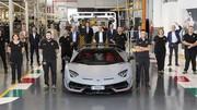 Record pour Lamborghini avec 10.000 Aventador vendues dans le monde