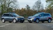 Les forces de l'ordre en voitures Peugeot essence