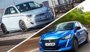 Essai comparatif Peugeot e-208 vs Fiat 500e
