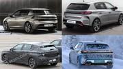 L'arrière de la future Peugeot 308 2021 imaginé