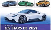 Nouveautés autos : Les 20 stars incontournables de l'année 2021