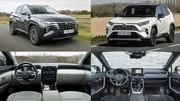 Le Hyundai Tucson hybride face au Toyota RAV4 hybride 2WD