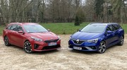 Essau  Kia Ceed SW hybride rech. VS Renault Megane Estate E-Tech : breaks tendance