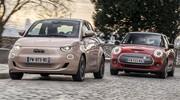 Essai Nouvelle Fiat 500 vs Mini Cooper SE : le match des électriques chics !