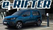 e-Rifter : Le ludospace de Peugeot passe à l'électrique