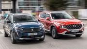 Essai comparatif : Le Hyundai Santa Fe 2021 défie le Peugeot 5008
