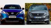 Premier match: Nouveau Nissan Qashqai vs Peugeot 3008