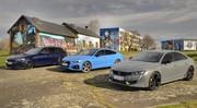 Essai : La Peugeot 508 PSE face aux Audi S5 Sportback et BMW M340i Touring