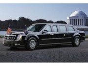 Barack Obama roulera en Cadillac