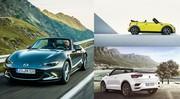 MX-5, Mini Cabrio, T-Roc Cabriolet : les 3 seuls véritables cabriolets accessibles du marché