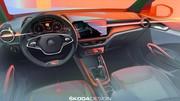 Skoda Fabia 4 (2021) : l'habitacle se dévoile