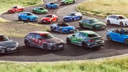 La nouvelle Audi RS 3 s'affiche avec le reste de la gamme Audi Sport dans une photo de groupe