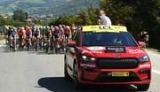 Tour de France : le SUV électrique Skoda Enyaq à la place de la Superb