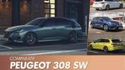 Peugeot 308 SW (2022) : Le nouveau break face à ses rivaux