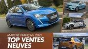 Les voitures les plus vendues en France en 2021