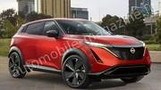 Première image du futur SUV électrique Nissan concurrent de la Renault Mégane E-Tech