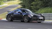 Porsche 911 Turbo E‑Hybrid (2024) : un premier prototype aperçu en Allemagne