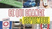 30 km/h, inter-file, bonus écologique... Les changements de la rentrée
